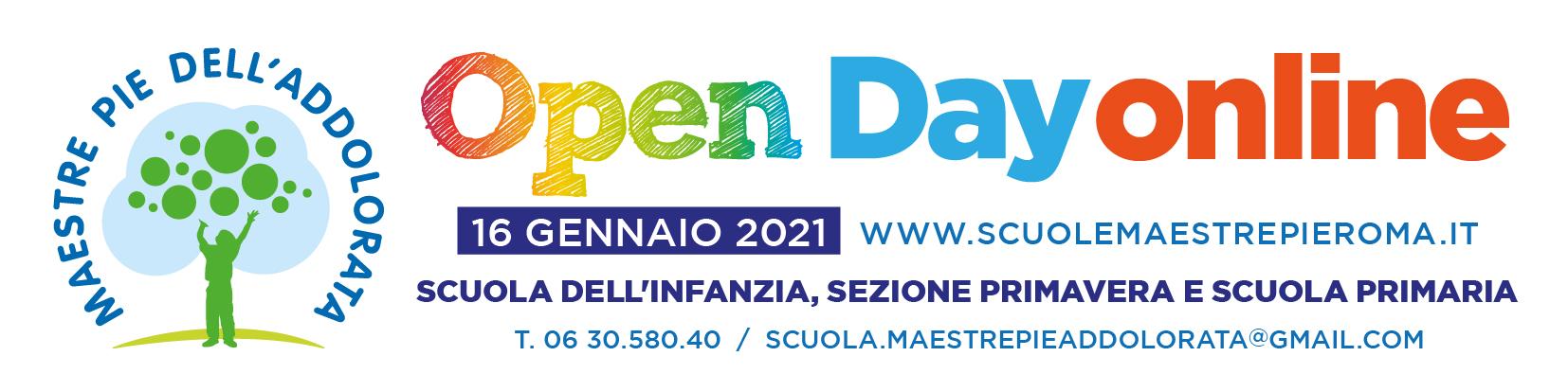 striscione openday-2021